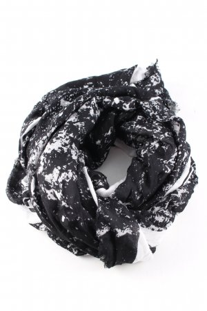 Calvin Klein Jeans Fazzoletto da collo nero-bianco motivo astratto elegante