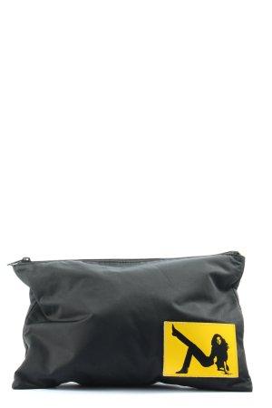 Calvin Klein Jeans Clutch schwarz-blassgelb Motivdruck Casual-Look