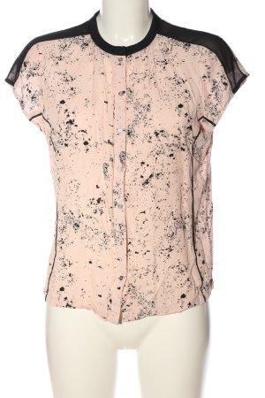 Calvin Klein Jeans Hemd-Bluse creme-schwarz Allover-Druck Casual-Look