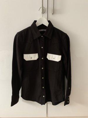 Calvin Klein Jeans Blouse en jean noir-blanc coton