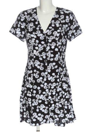 Calvin Klein Jeans Koszulowa sukienka czarny-biały Na całej powierzchni
