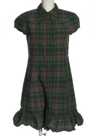 Calvin Klein Jeans Koszulowa sukienka zielony-brązowy Na całej powierzchni