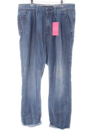 Calvin Klein Jeans High-Waist Hose blau Casual-Look