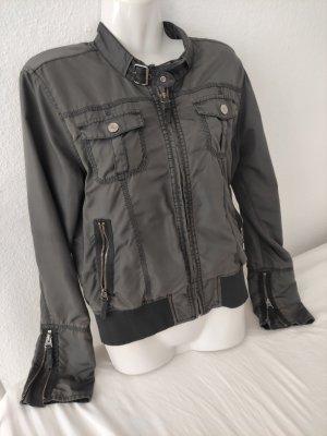 Calvin Klein Jeans Krótka kurtka szary Tkanina z mieszanych włókien
