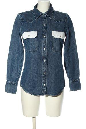 Calvin Klein Jeans Chemise en jean bleu style décontracté