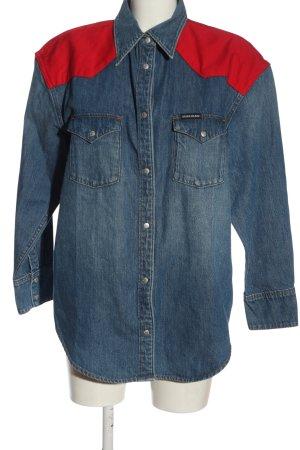 Calvin Klein Jeans Denim Jacket blue-red casual look