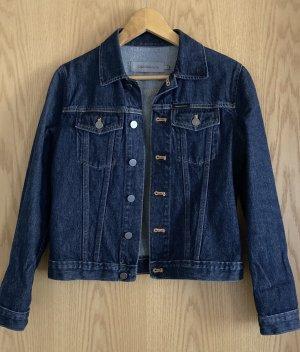Calvin Klein Jeans Jeansowa kurtka ciemnoniebieski-srebrny Bawełna