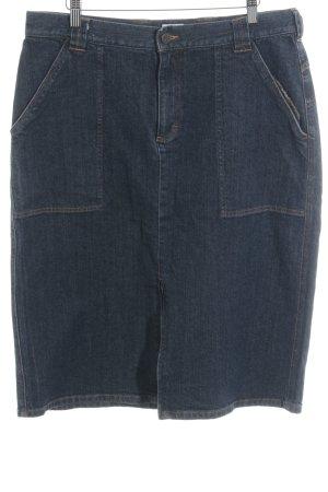 Calvin Klein Jeans Jeansrock dunkelblau meliert Jeans-Optik