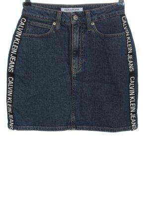 Calvin Klein Jeans Jupe en jeans imprimé avec thème style décontracté
