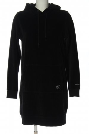 Calvin Klein Jeans Hooded Dress black casual look