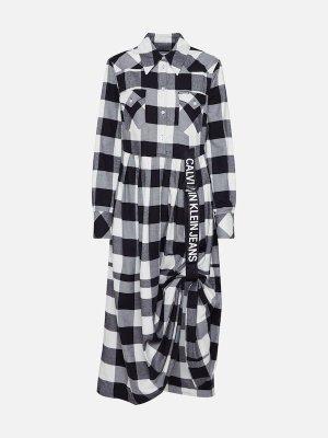Calvin Klein Jeans Kleid 'WESTERN' in schwarz / weiß