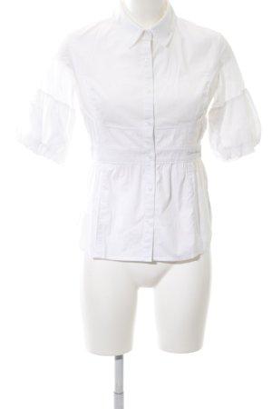 Calvin Klein Jeans Kurzarm-Bluse weiß Business-Look