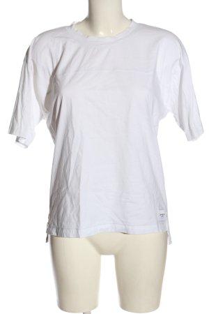 Calvin Klein Jeans Kurzarm-Bluse weiß Casual-Look