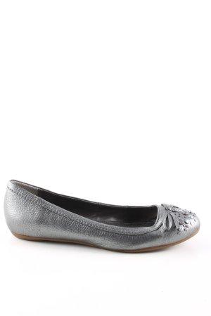 Calvin Klein Jeans Lakleren ballerina's zilver casual uitstraling