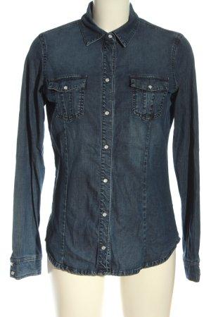 Calvin Klein Jeans Langarmhemd blau Casual-Look