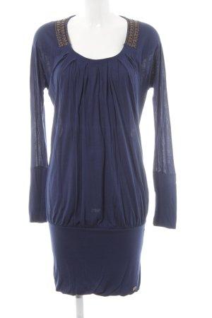 Calvin Klein Jeans Langarmkleid dunkelblau-schwarzbraun Casual-Look