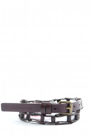 Calvin Klein Jeans Leather Belt brown casual look