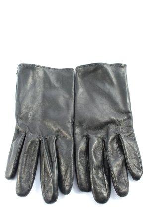 Calvin Klein Jeans Gants en cuir noir style décontracté
