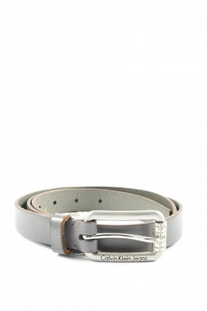 Calvin Klein Jeans Faux Leather Belt light grey business style