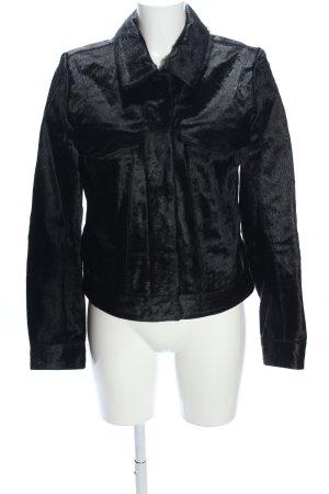 Calvin Klein Jeans Veste en cuir noir style mouillé