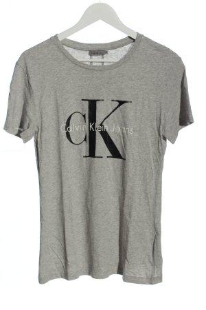 Calvin Klein Jeans Długa koszulka jasnoszary Melanżowy W stylu casual