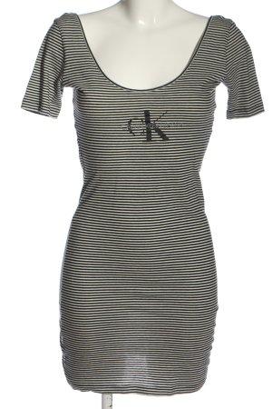 Calvin Klein Jeans Robe courte noir-blanc lettrage imprimé style décontracté