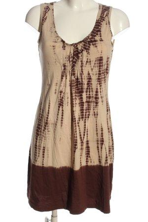 Calvin Klein Jeans Robe courte crème-brun motif abstrait style décontracté