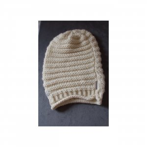 Calvin Klein Jeans Knitted Hat natural white wool
