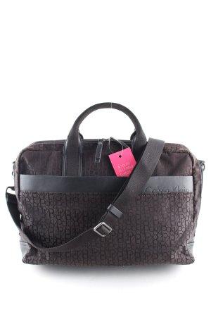 Calvin Klein Jeans Borsa pc marrone-nero caratteri stampati stile professionale