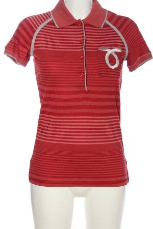 Calvin Klein Jeans Polo-Shirt rot-nude Streifenmuster Casual-Look