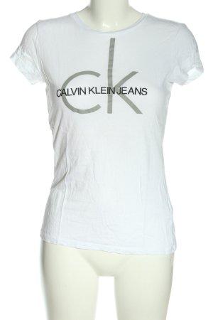 Calvin Klein Jeans Print-Shirt Schriftzug gedruckt Casual-Look