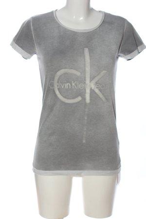 Calvin Klein Jeans Koszulka z nadrukiem jasnoszary Wydrukowane logo