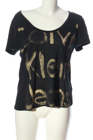 Calvin Klein Jeans Shirt met print zwart-goud gedrukte letters