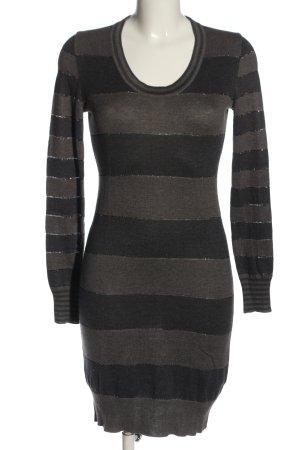 Calvin Klein Jeans Robe pull gris clair motif rayé style décontracté