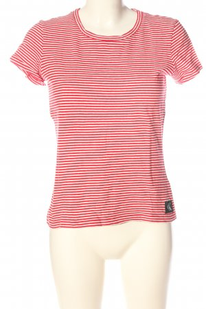 Calvin Klein Jeans Stripe Shirt red-white striped pattern casual look