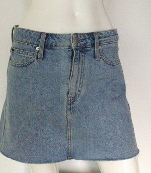 Calvin Klein Jeans Jupe en jeans bleu azur coton