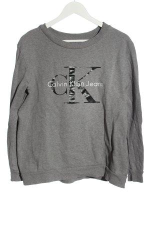 Calvin Klein Jeans Sweter z okrągłym dekoltem jasnoszary Melanżowy
