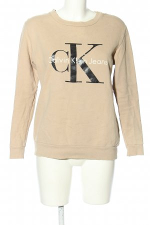 Calvin Klein Jeans Rundhalspullover Schriftzug gedruckt Casual-Look