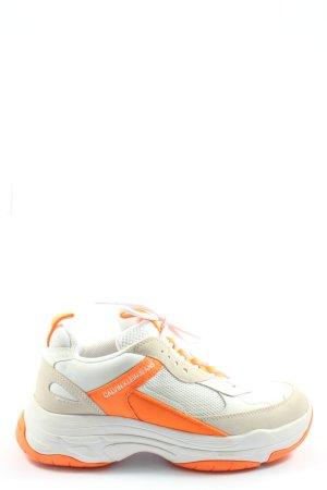 Calvin Klein Jeans Sneakers met veters gedrukte letters casual uitstraling