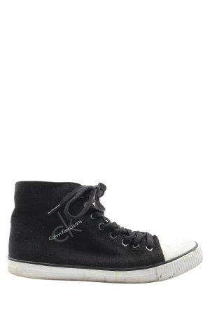 Calvin Klein Jeans Schnürsneaker schwarz-weiß Casual-Look