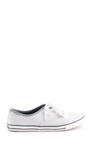 Calvin Klein Jeans Zapatilla brogue gris claro estampado gráfico look casual