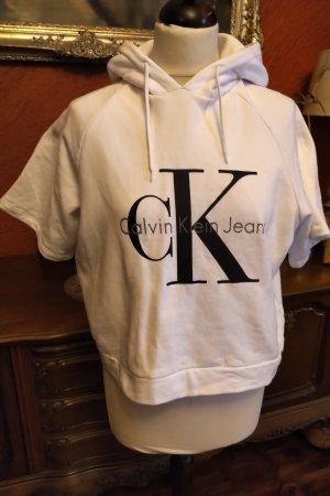 Calvin Klein Jeans Blusa con capucha blanco