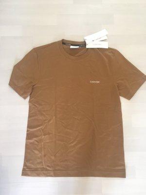 Calvin Klein Jeans Shirt T-Shirt braun Logo M Unisex