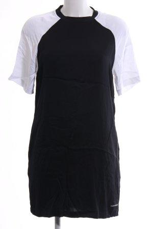 Calvin Klein Jeans Shirtkleid schwarz-weiß Casual-Look