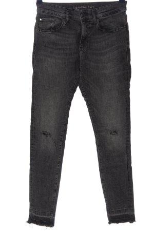 Calvin Klein Jeans Jeansy o obcisłym kroju jasnoszary W stylu casual