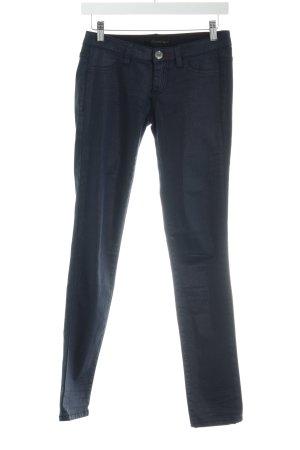 Calvin Klein Jeans Skinny Jeans dunkelblau Logo-Applikation aus Leder