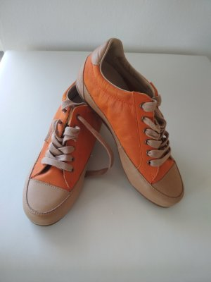 Calvin Klein Jeans Sneaker alta arancione scuro-color cammello Pelle