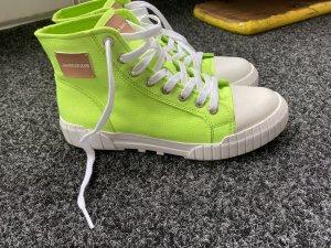 Calvin Klein Jeans Basket montante vert fluo