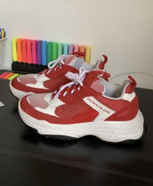 Calvin Klein Jeans Lace-Up Sneaker red-white