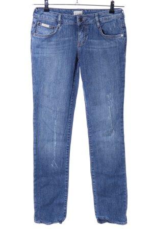 Calvin Klein Jeans Straight-Leg Jeans blau Street-Fashion-Look